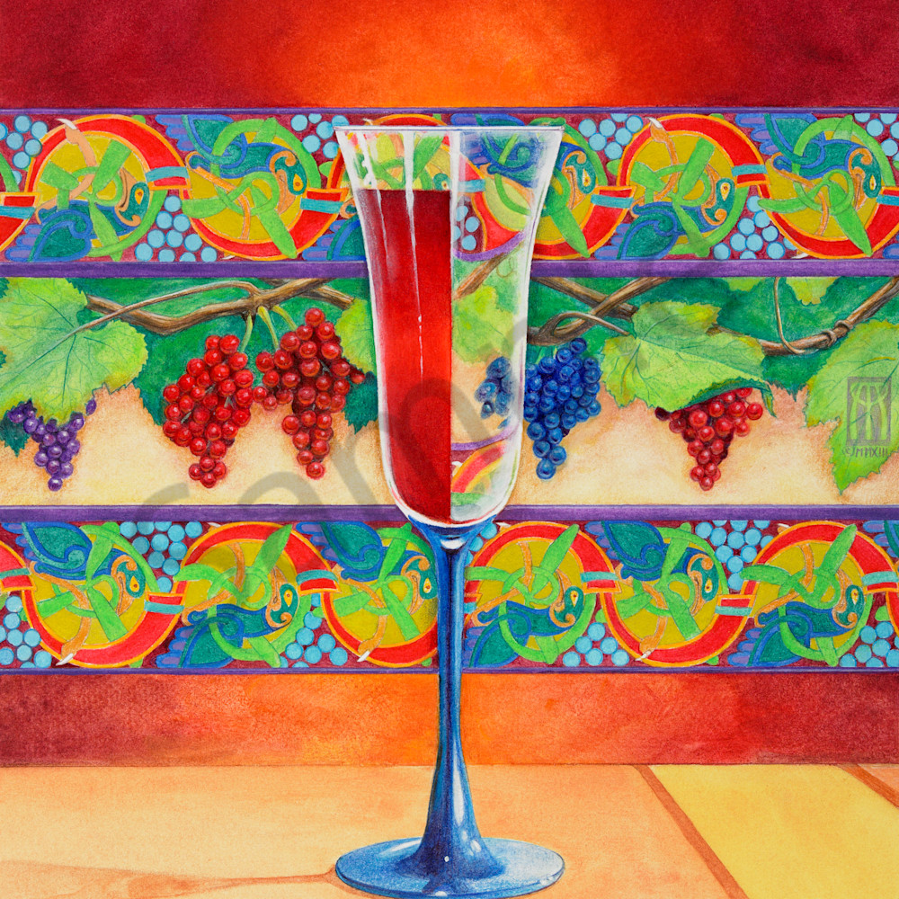 Wine glass half full large sqbt95