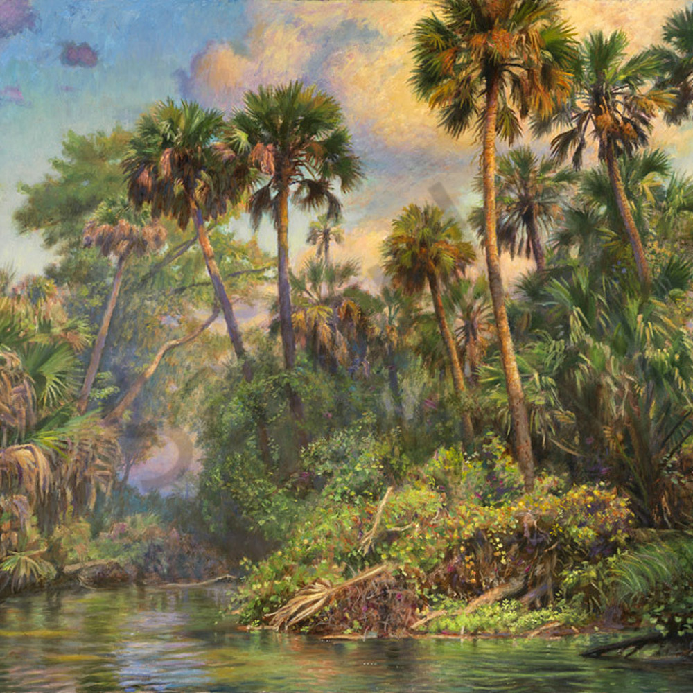Palm jungle giclee tcoy4n