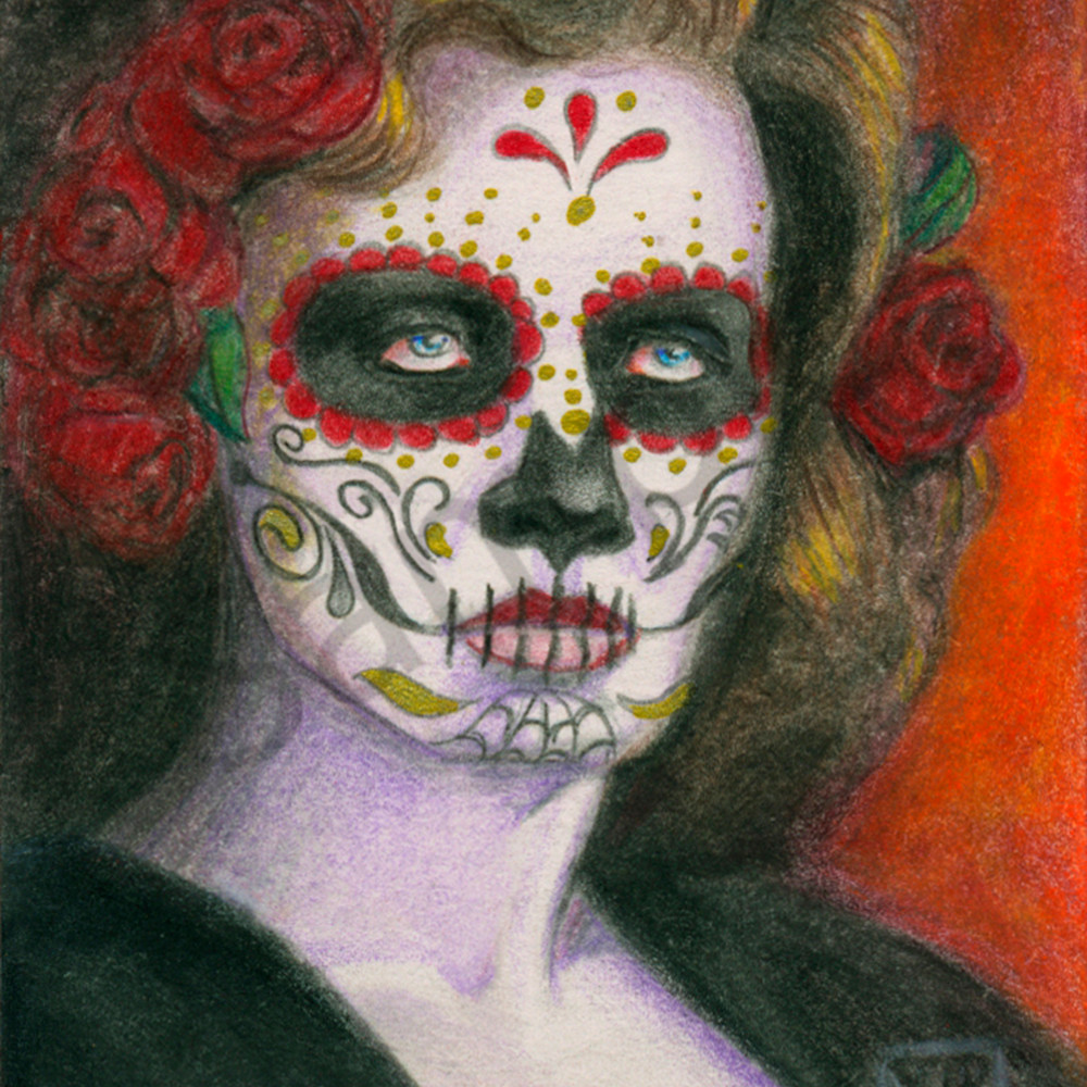 Day of the dead roses 10 x 14 i44p2r