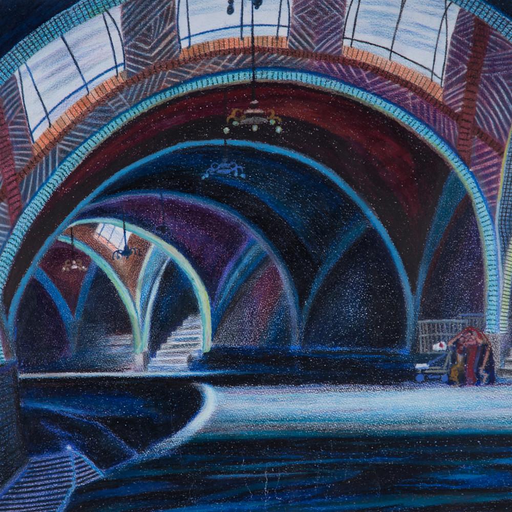 The blue nyc hall underground subway mlzvcf