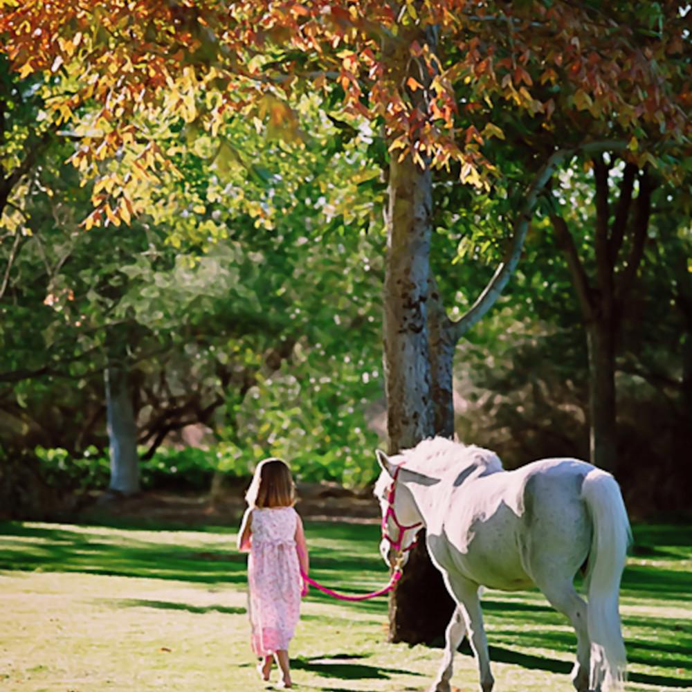 Girl with white pony mttzmn