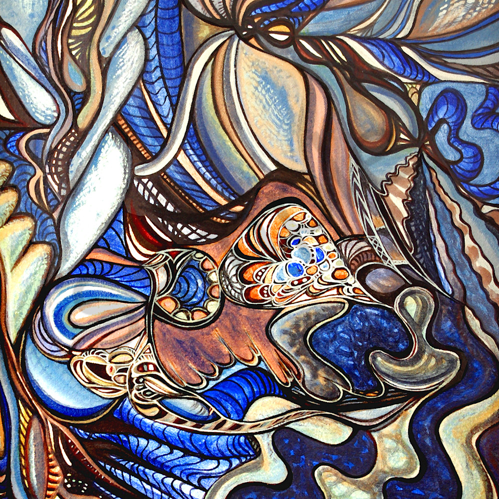 Blue abstract xrmqqj