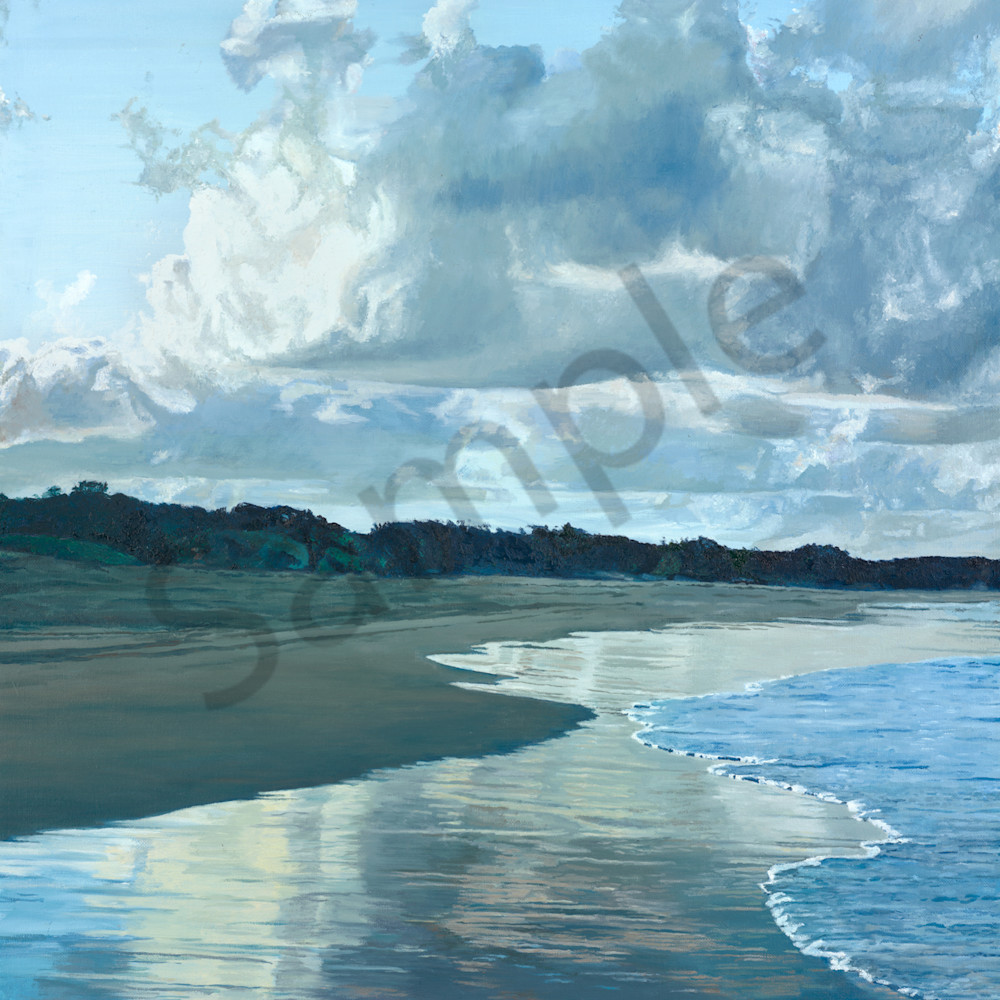 C hamilton 003 clouds and the evening tide stradbroke txqqsj