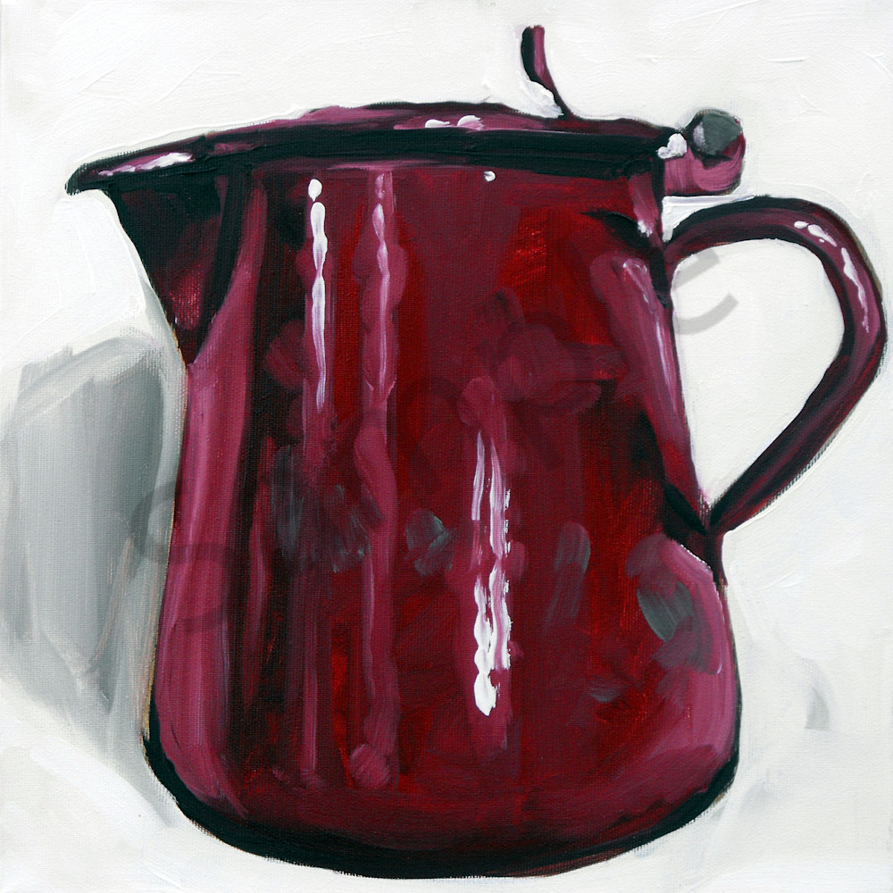 Cherry red tin pot by andrei cicala gpeloy