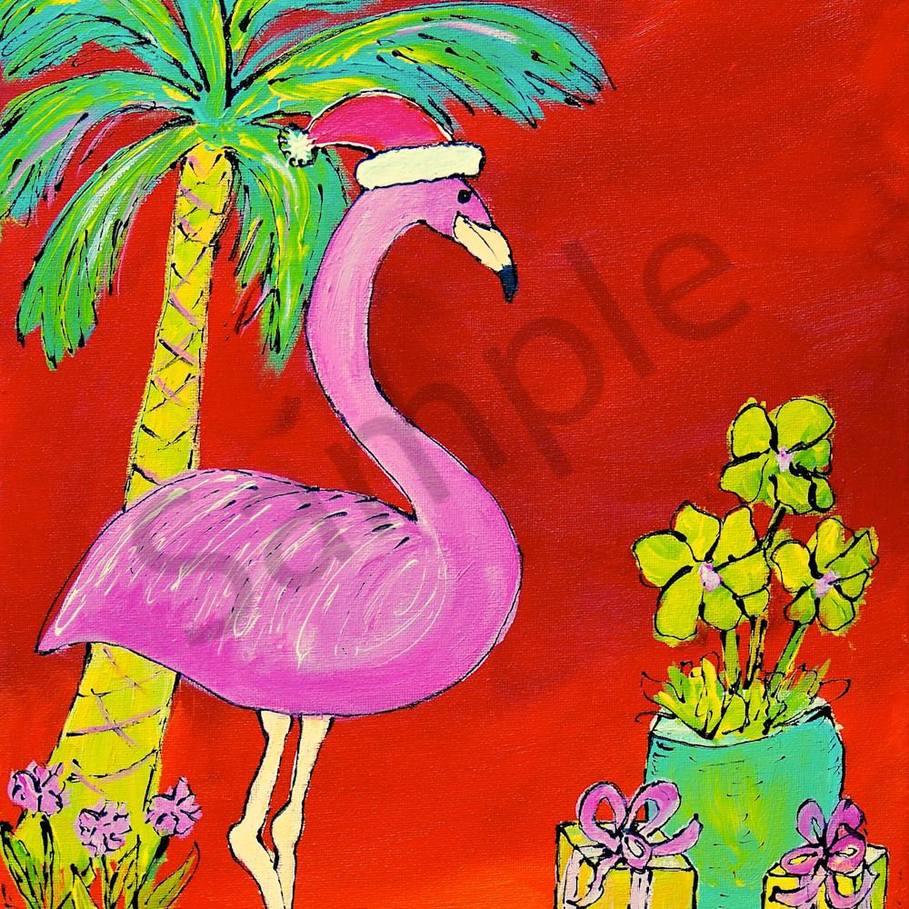 Christmas flamingo vv69vk