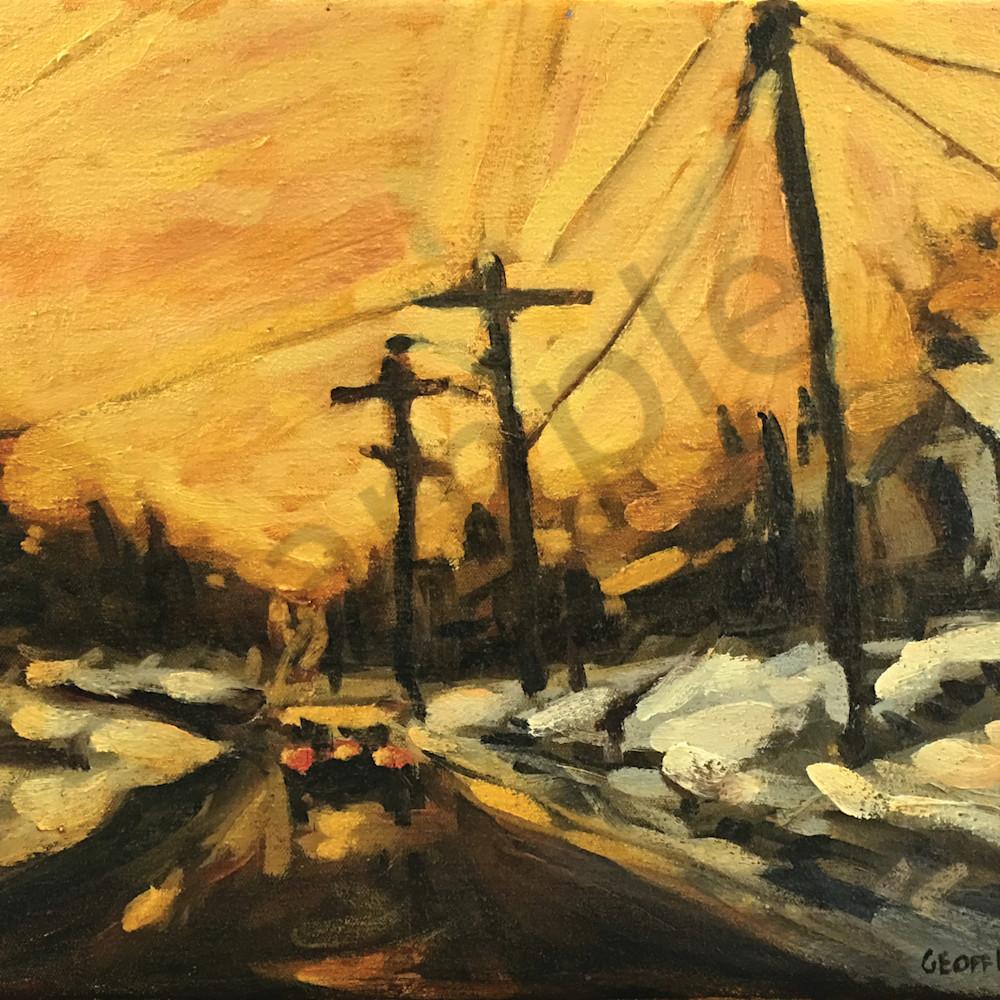 Morning winter sunrise on main yikrzg