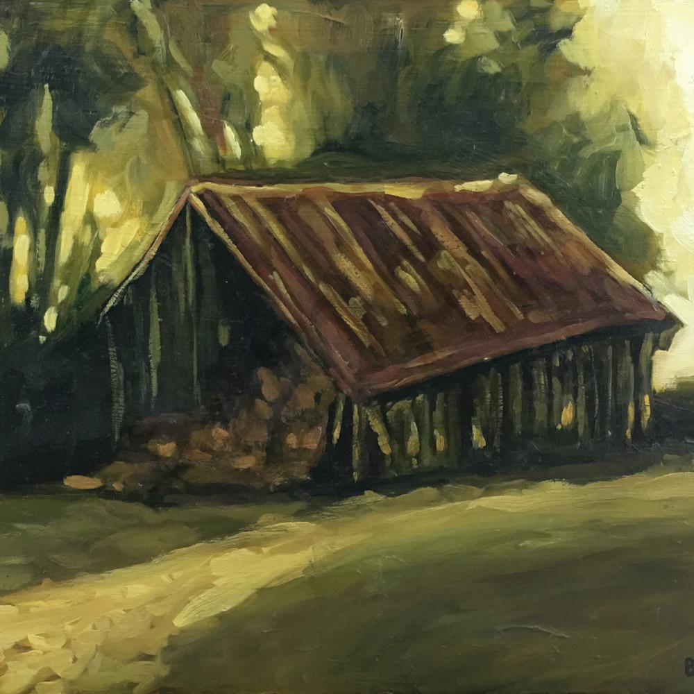 Hay barn at dusk ppt1ws