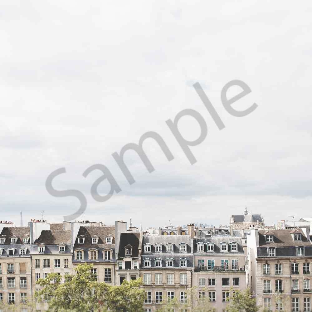 Paris rooftop white square with signature tjw9uo