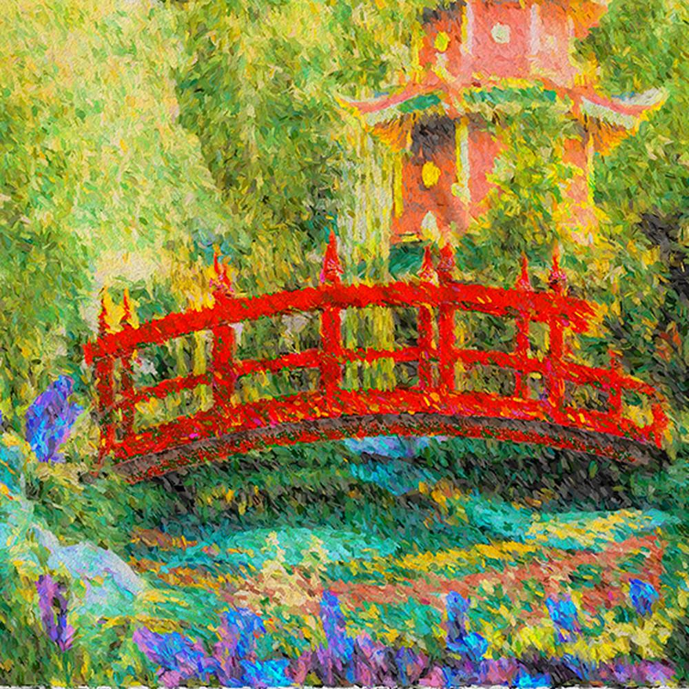 Red bridge japanese garden sm oqufig