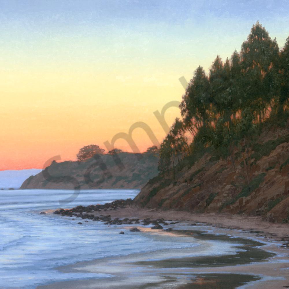 California coastal sunset h6e2sy