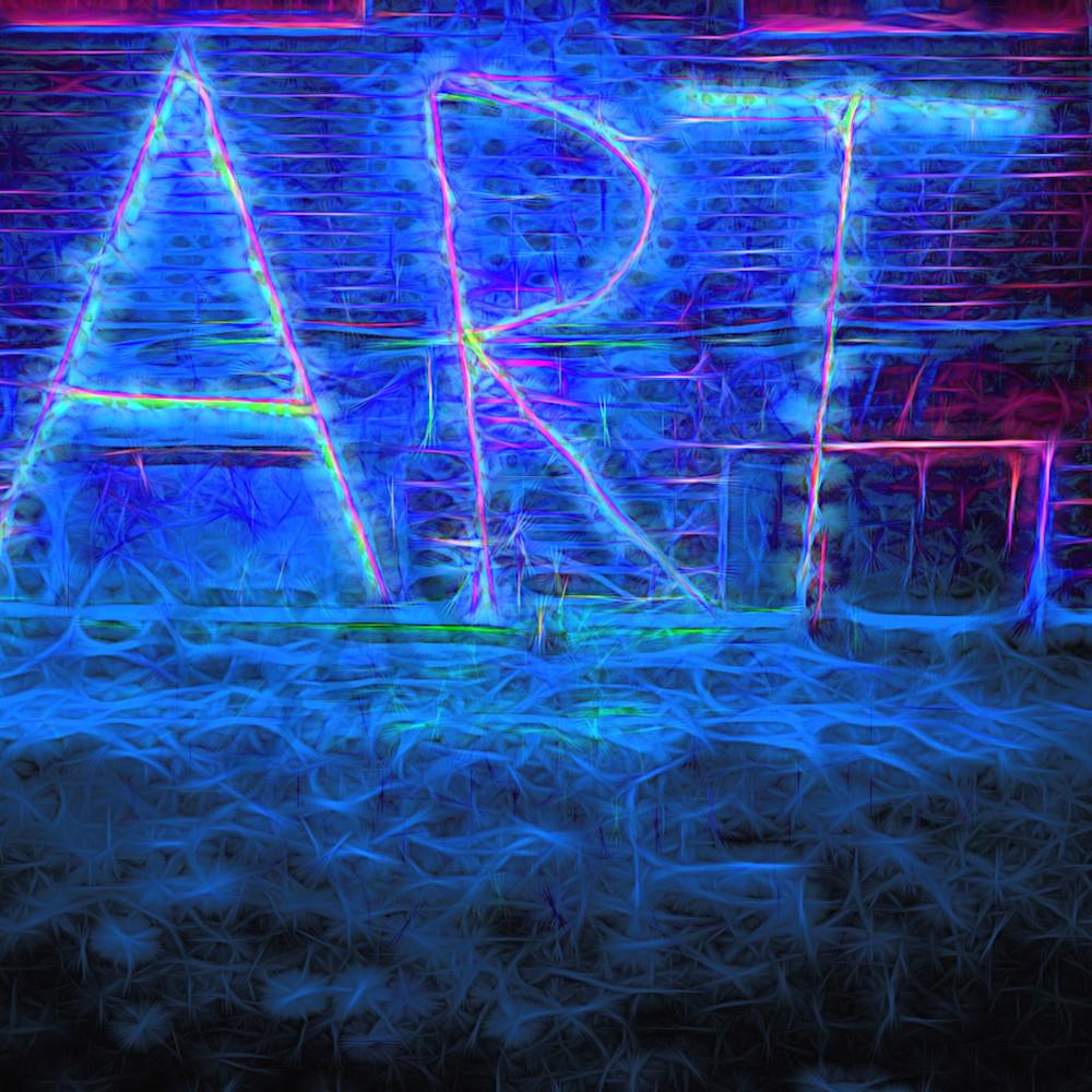 Art sign at night website d9ywb9