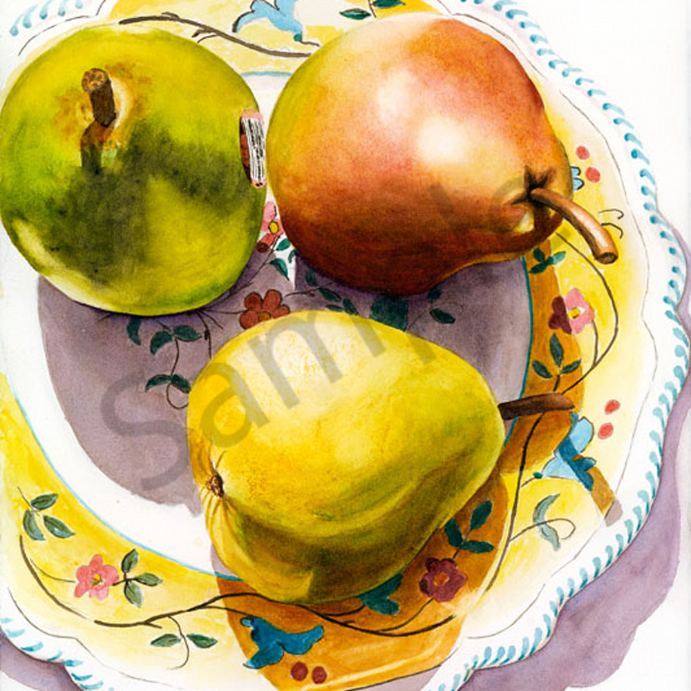Chandler 3 pears and a plate sm yn99bj