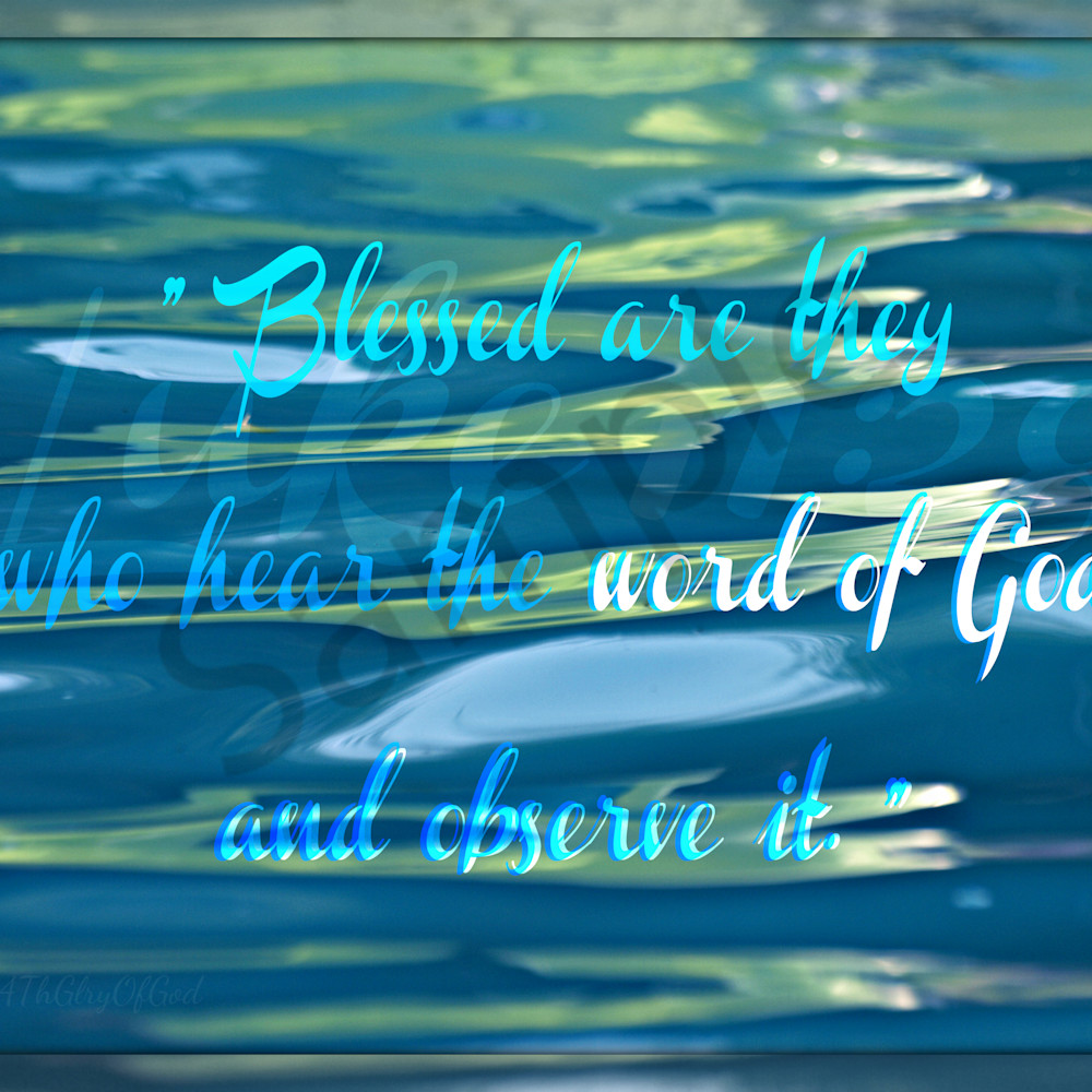 Blessed are they   p8210155 pool toys reflection   tint blue   framed gzhlii