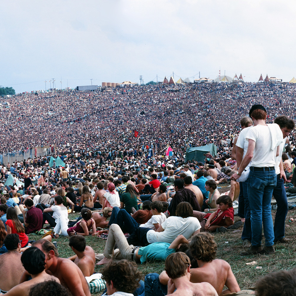 Panorama woodstock crowd 10x4 u7wibv