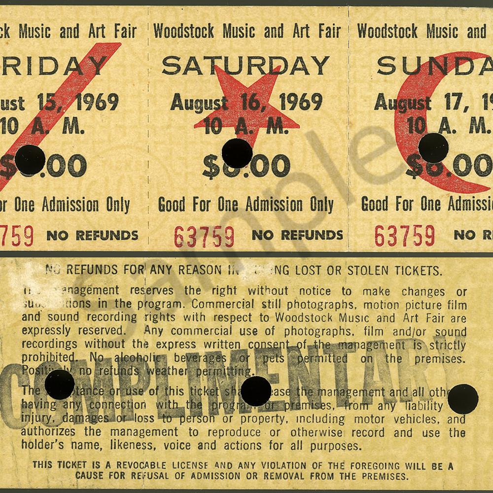 4x6 woodstock ticket 3 mghvmy