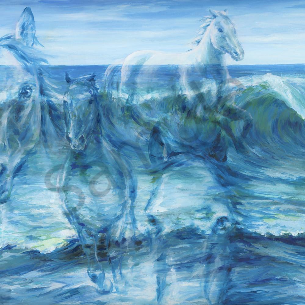 Horses as the waves by melani pyke ojwrst