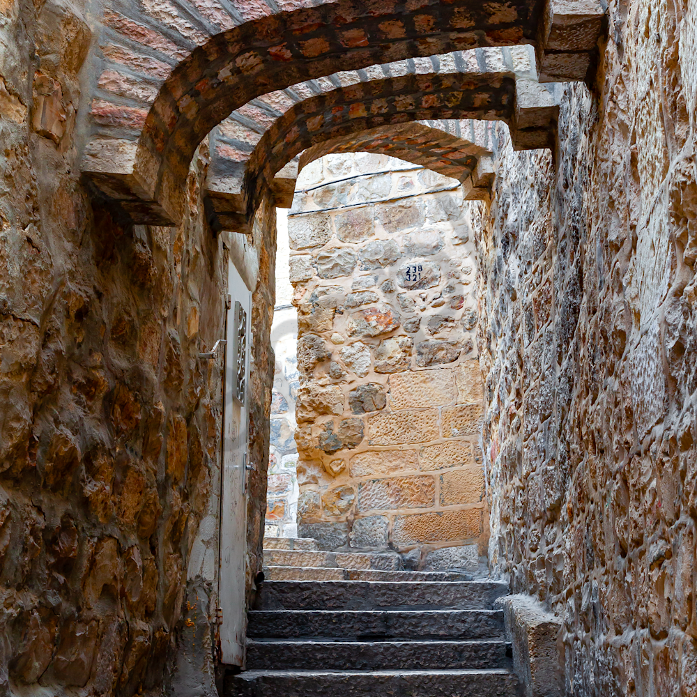 Old jerusalem and stairs arches israel lvvok7
