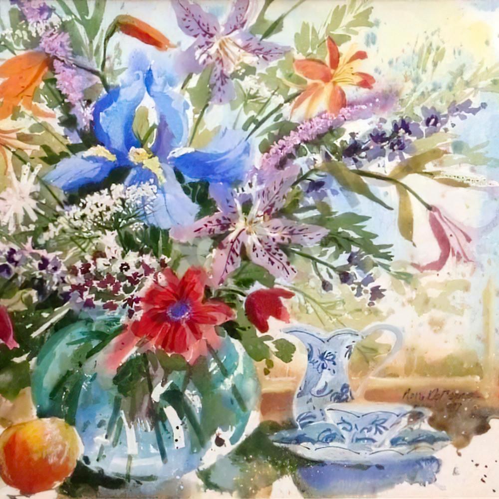 Blue iris by jean pierre debernay dx01k0