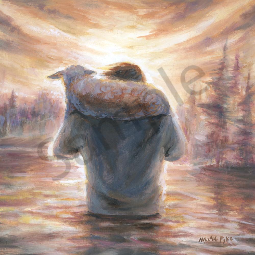 Jesus carrying the lamb by melani pyke loue2h