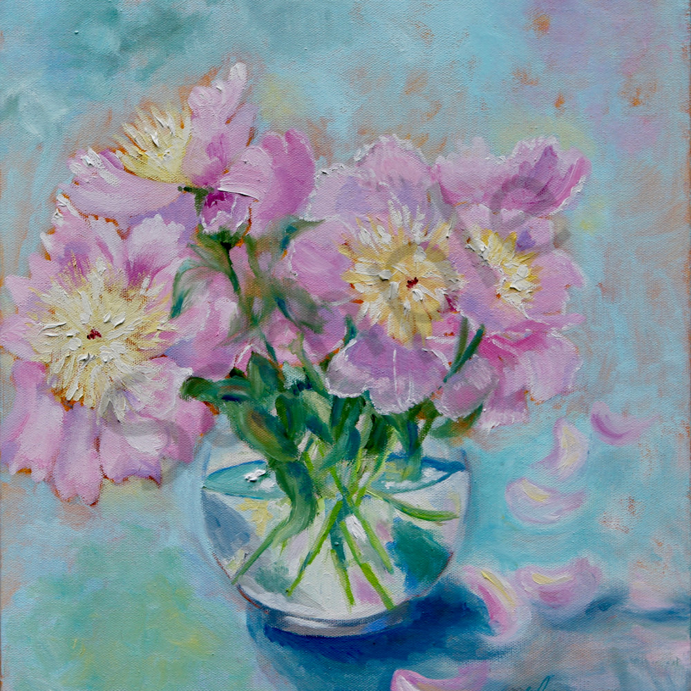 Morning peonies by sharon adams pcdgnh