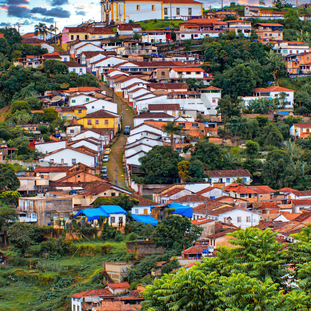 Vertical ouro preto from church ii brazil p05mzt