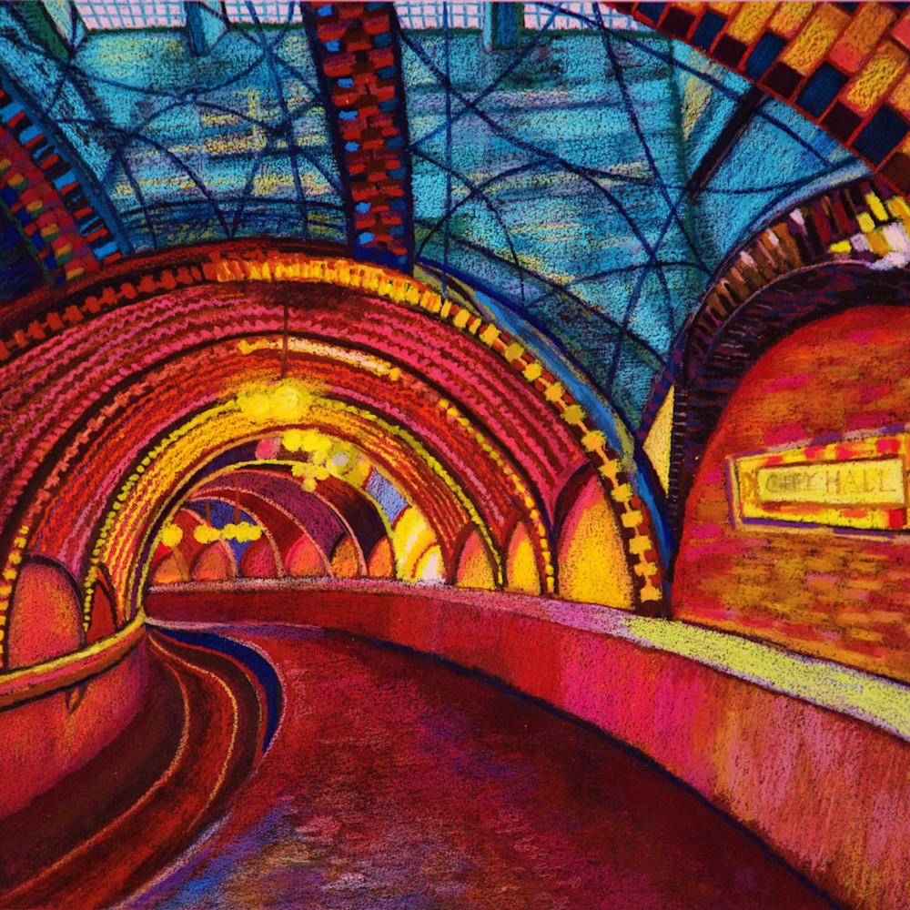 The luminous nyc hall subway vfsfku