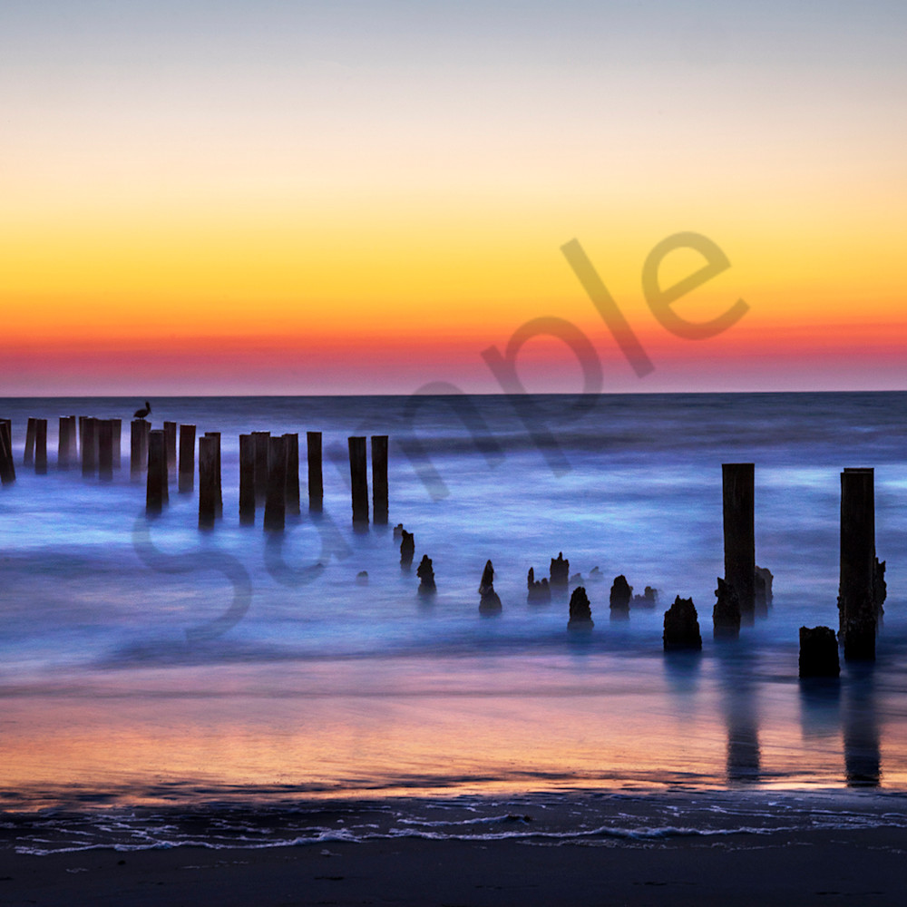 7843 pier posts sunset 6x4 r4fc28