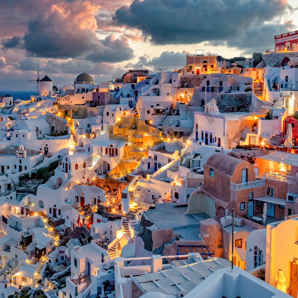 Oia santorini morning sunrise ii greece c0bqe7