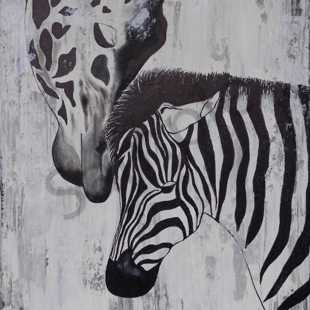 Giraffe zebra by angela gu%cc%88nther i4d2by