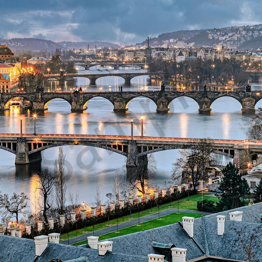 Prague and dusk pano czech republic eg1dne