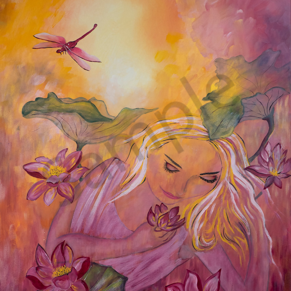 Woman in the garden by angela gu%cc%88nther jypb3t