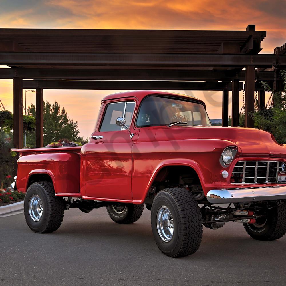 55 chevy truck cb9urd