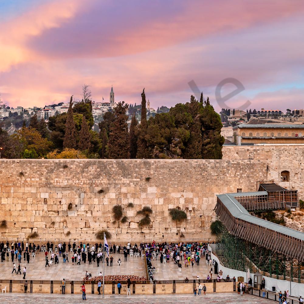 Wailing wall jerusalem israel panoramic ii arfxlc