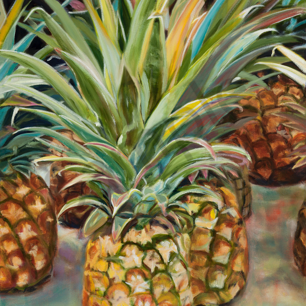 Pineapples at the market sc010 ijbptj