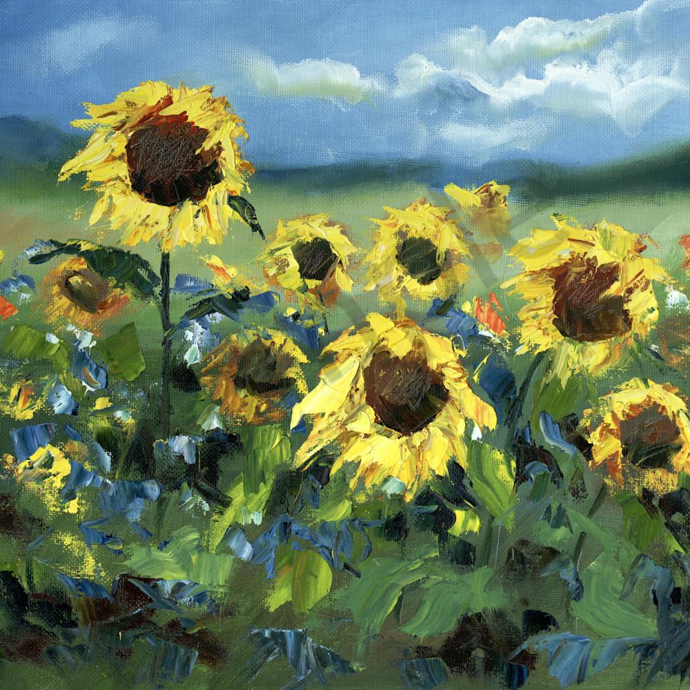 Sunflowers in the wind by elena shipunova rgrxws
