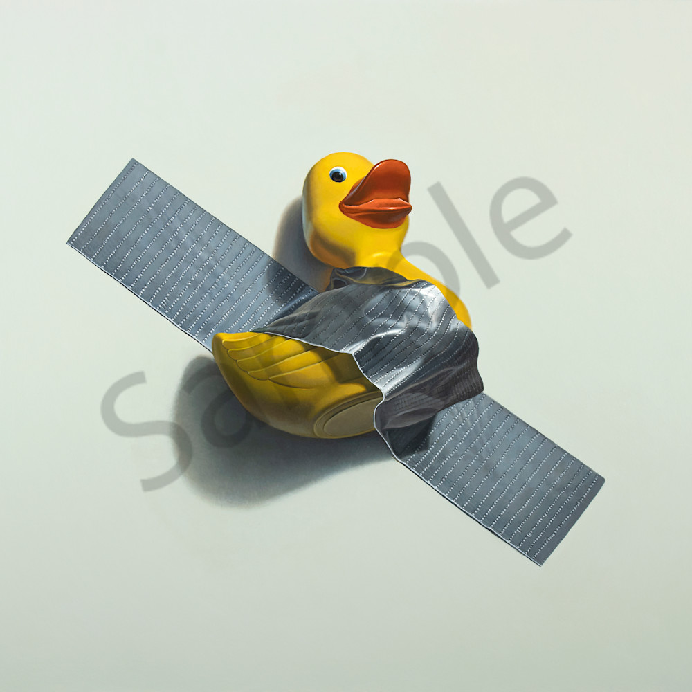 Duck taped   homage to maurizio cattelan   32x40 print file rqfm2m