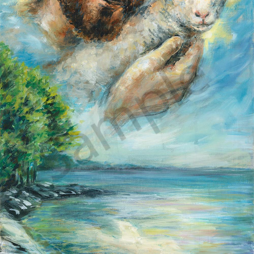 Jesus lamb over water by melani pyke jxlpcx
