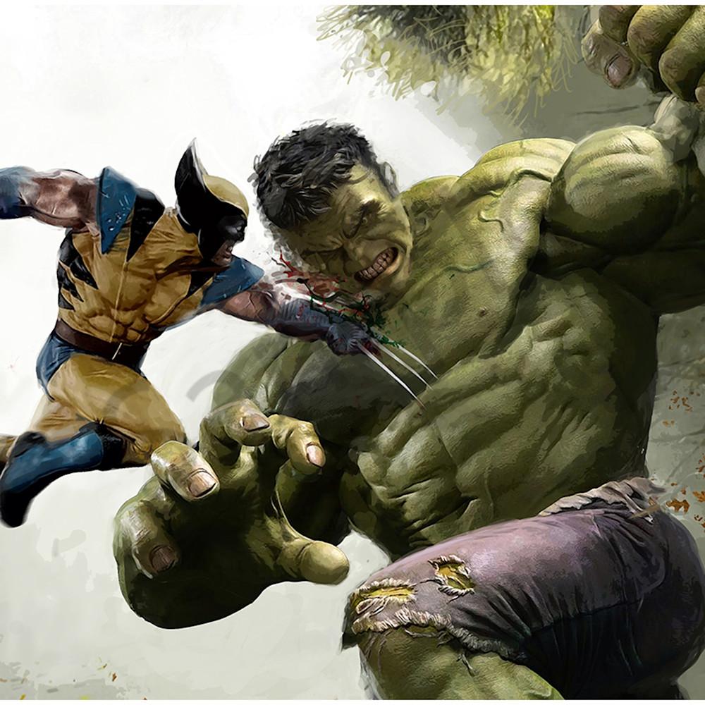 Hulk vs wolverine qwqnjn