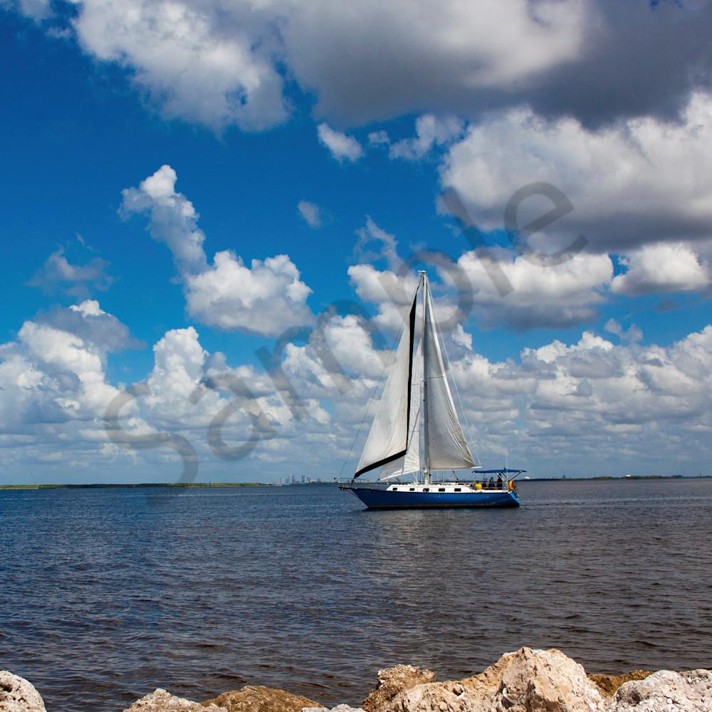 X blue sailboat b0trbz