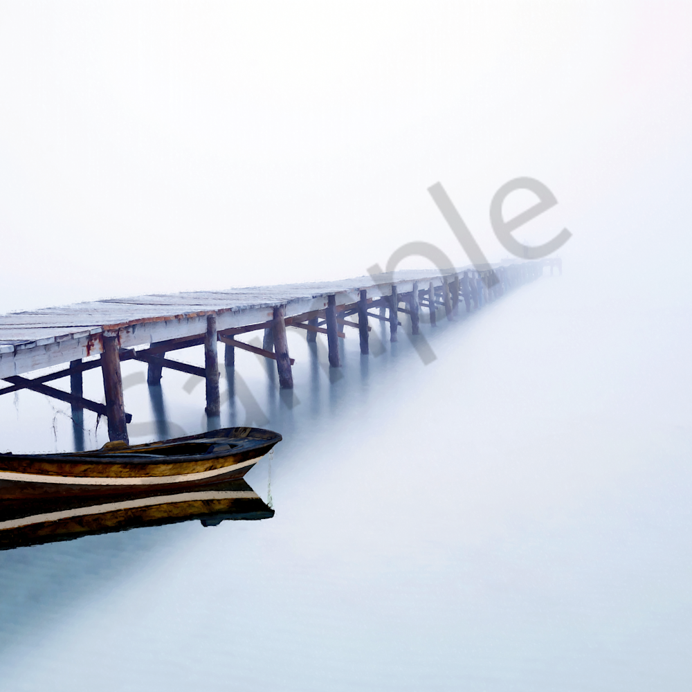 Composite of pier and fishing boat moored nxa17y