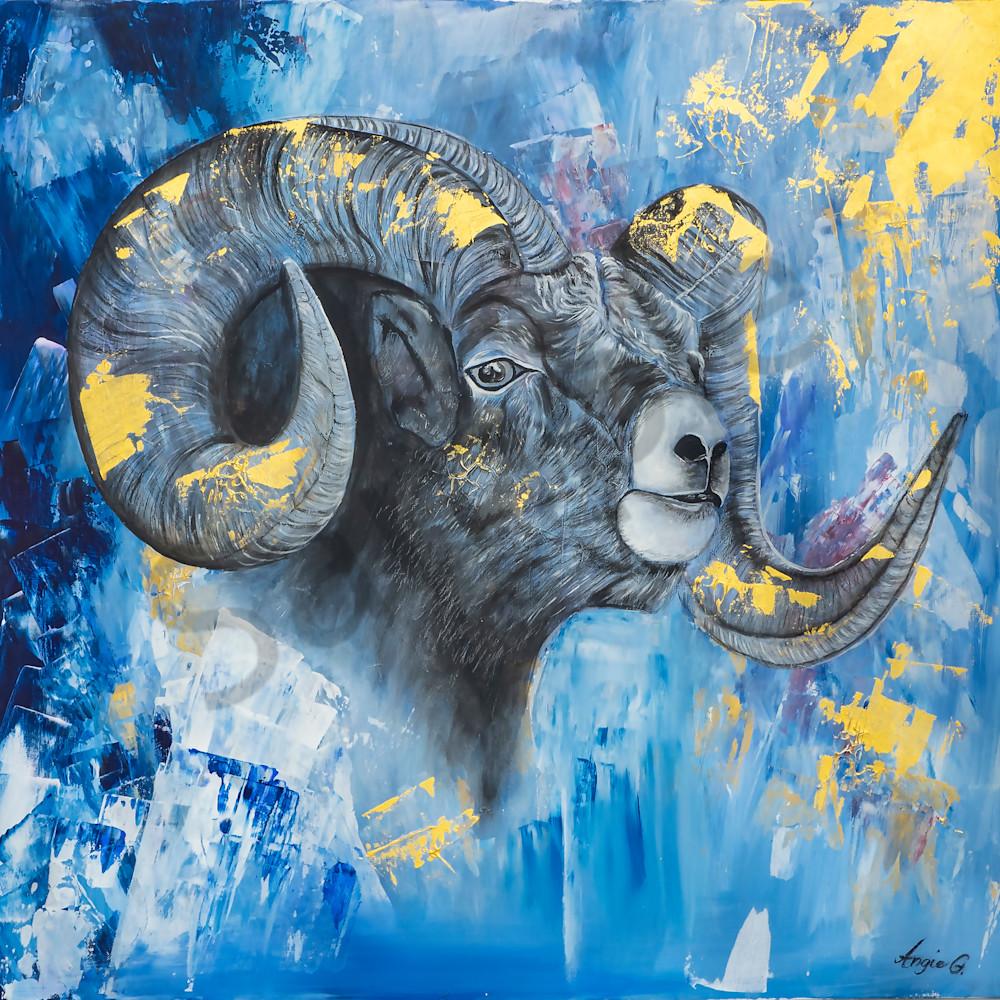 The ram with his shofar horn by angela gu%cc%88nther oz7dim