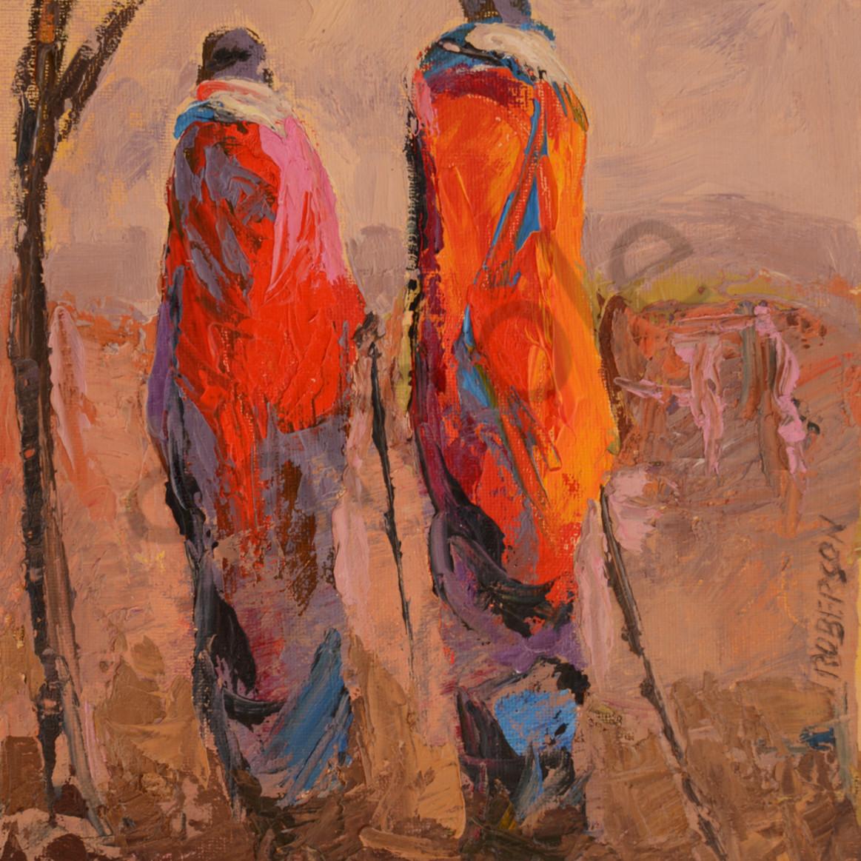 Tall maasai couple at sunset12x9 v9k3vd