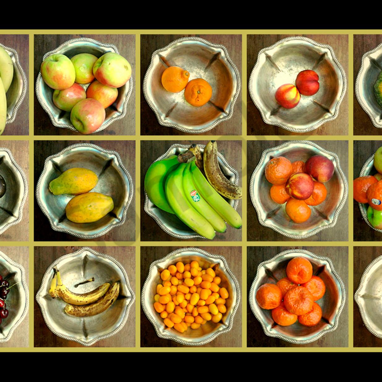 Fruit in silver bowl cafe v2gckj