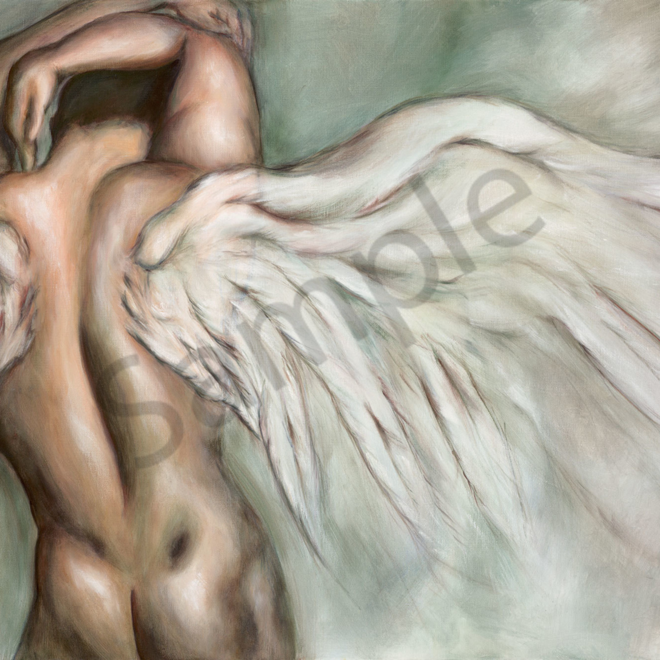 Char 012 spread your wings 60x90cm orig iara5v