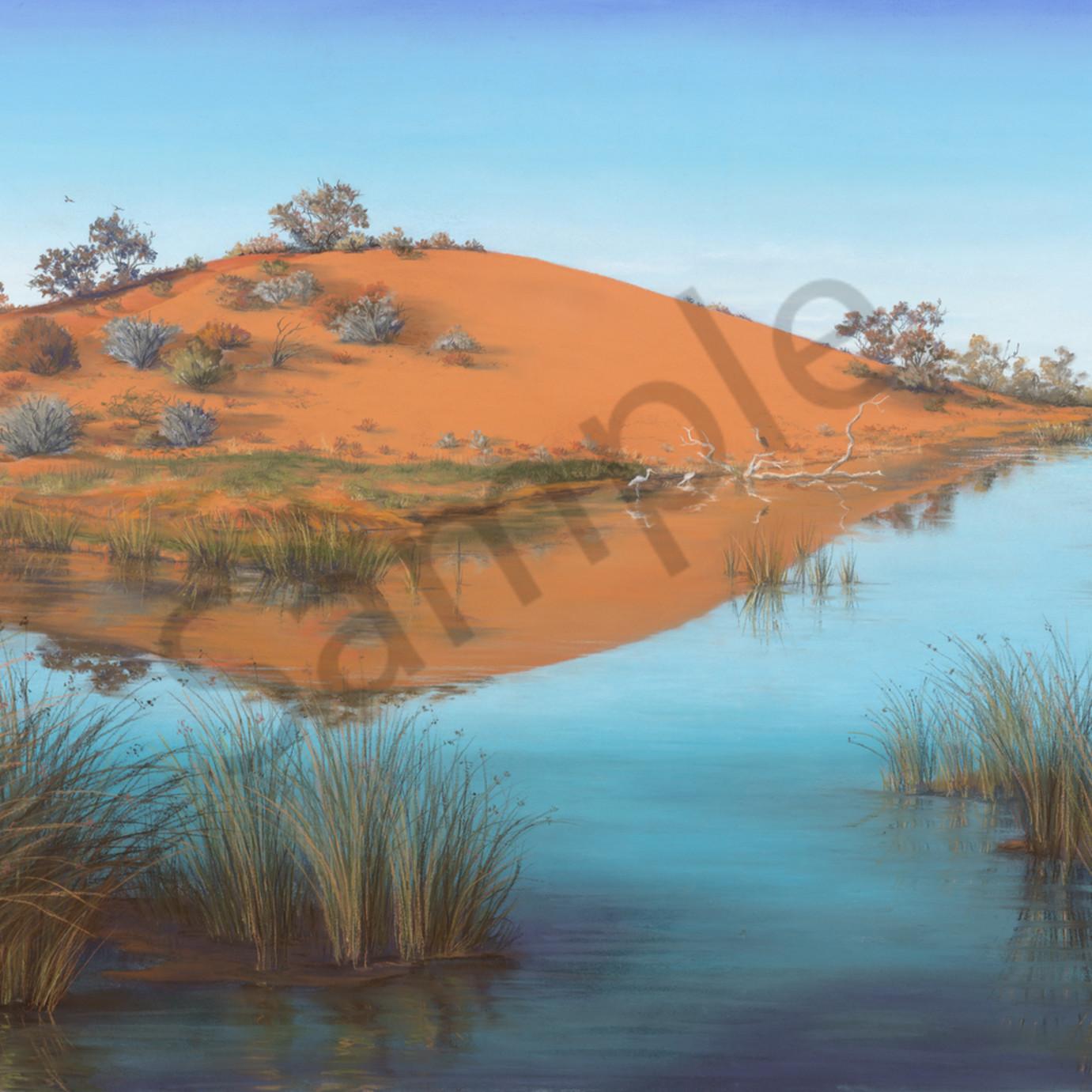 Jgre 052 oasis in the desert 67x97cm original yvphmq