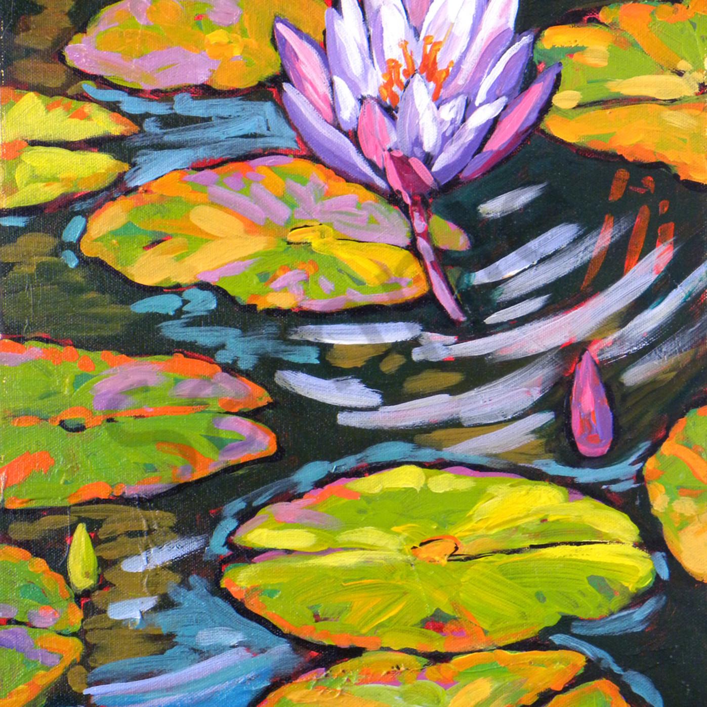 Purple lily dances in light gb qqh1ub