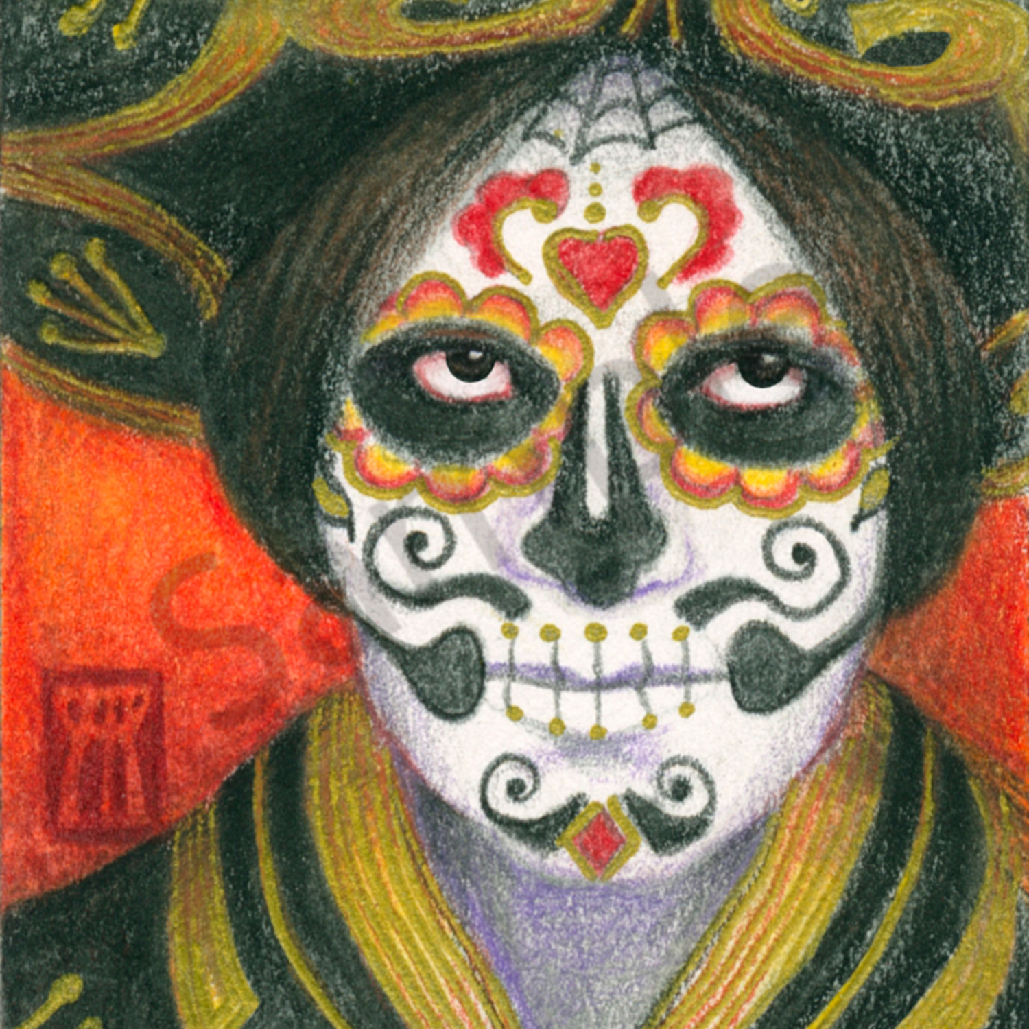 Day of the dead sombrero 1500 x 2100 fxbngu