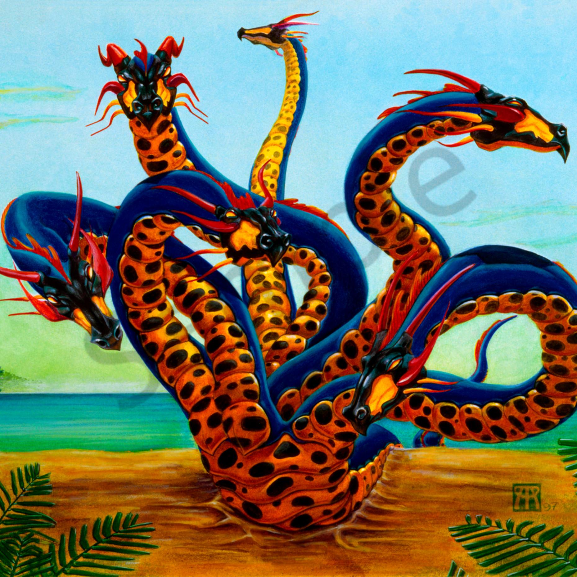 Hydra on beach q8p8zh