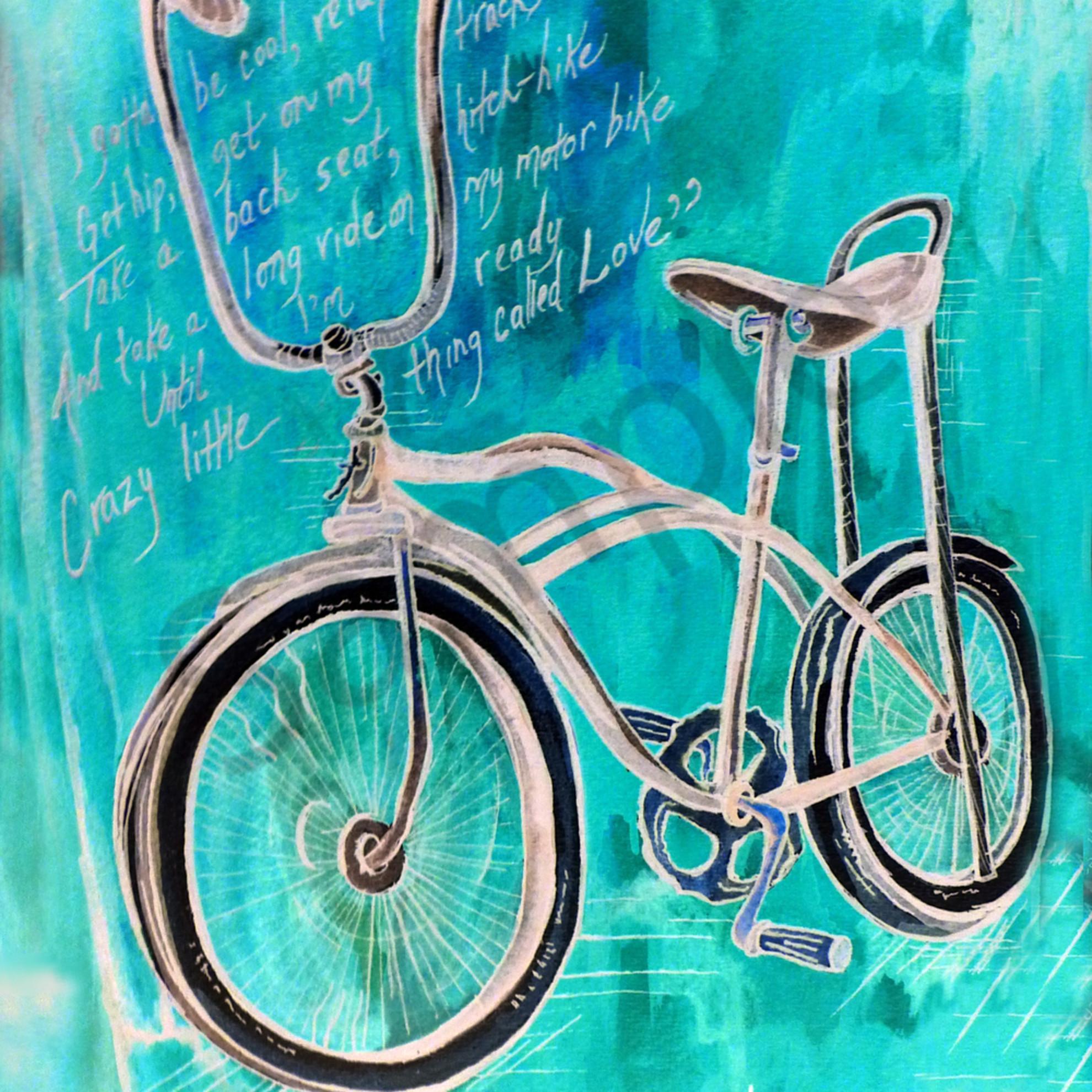 Elvis blue bike sffzsz