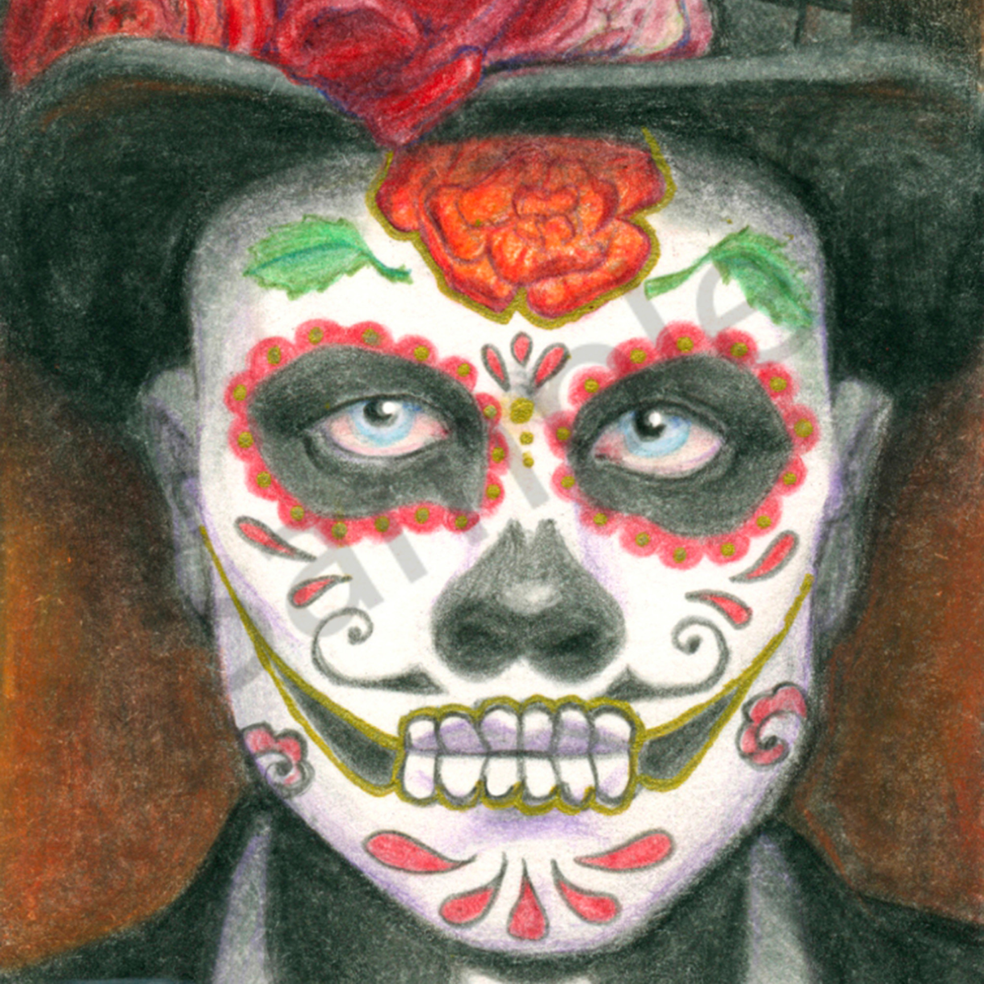 Day of the dead top hat 2000 x 2800 hoerfn